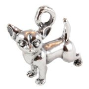 Chihuahua Dog 3D Sterling Silver Charms